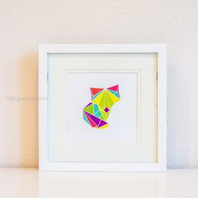 Origami Fox Digital Art Print