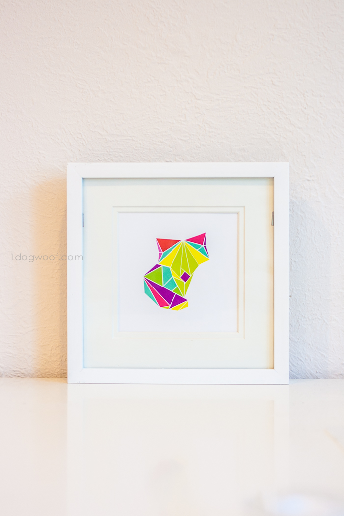 Origami fox digital print. via 1dogwoof.com