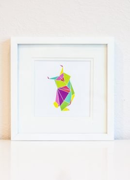 Origami Owl Digital Art Print