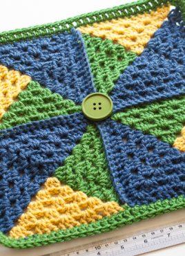Crochet Pinwheel Afghan Square