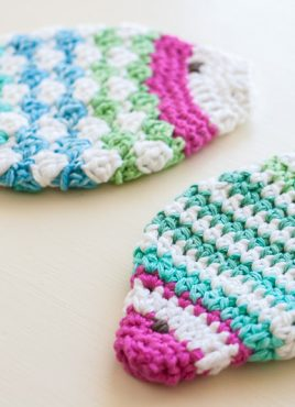 Striped Fish Scrubbie Crochet Pattern