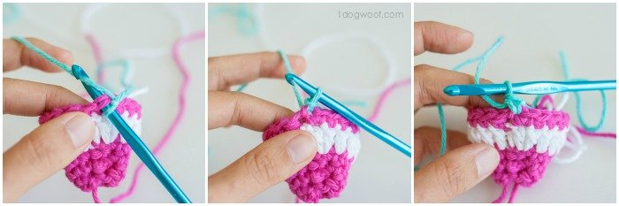 Standing single crochet. | www.1dogwoof.com