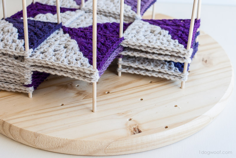 Modular Crochet Blocking Station