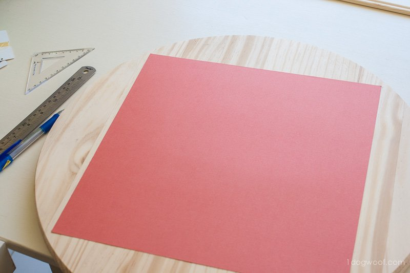"Use a 12"" piece of cardstock to make your template."