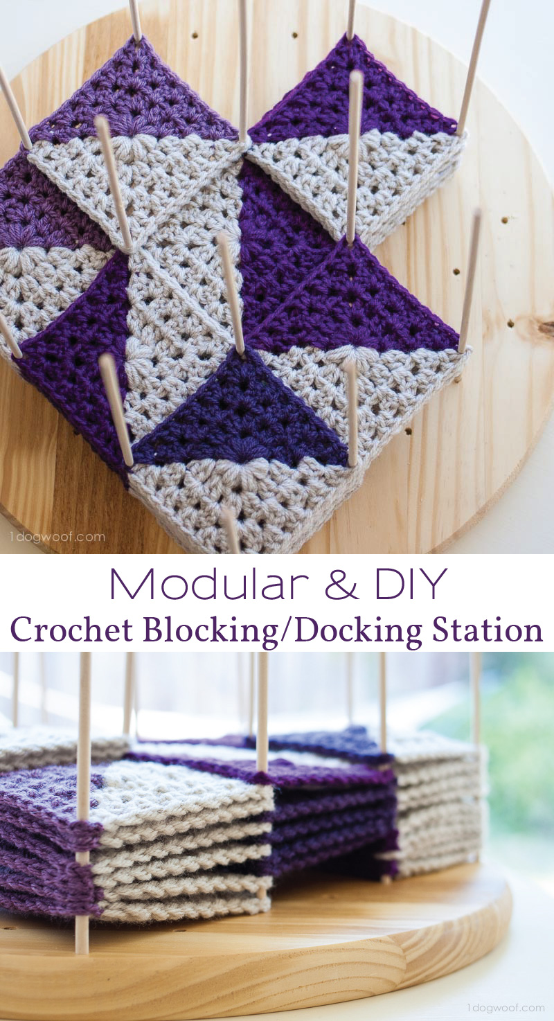 Modular Crochet Blocking Station - One Dog Woof