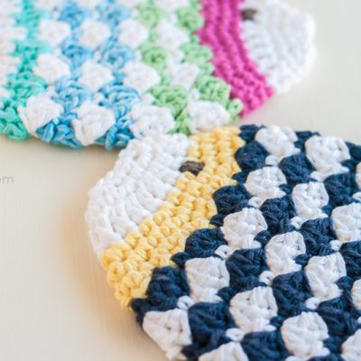 Crochet Fish Scrubbie Washcloths
