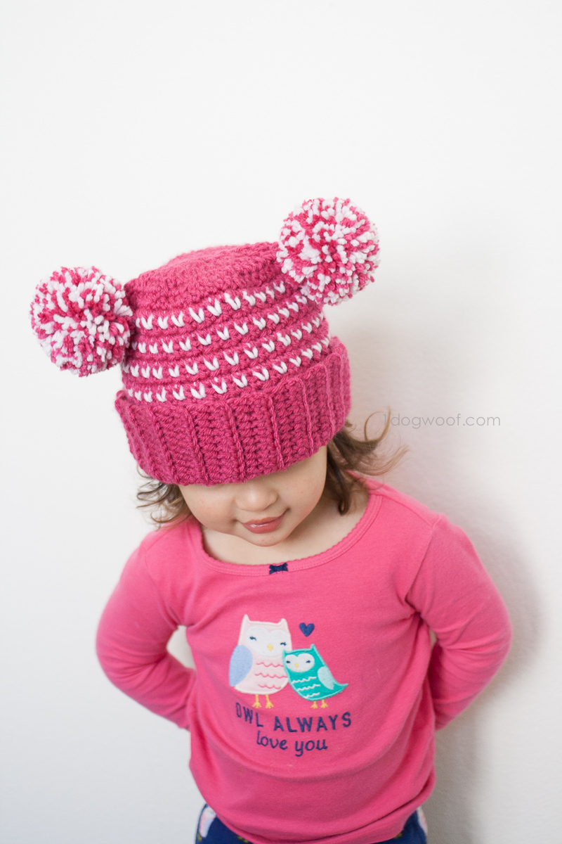 Lolly-poms Sweetheart Crochet Beanie | www.1dogwoof.com
