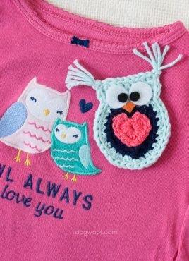 Owl Always Love You Crochet Owl Applique