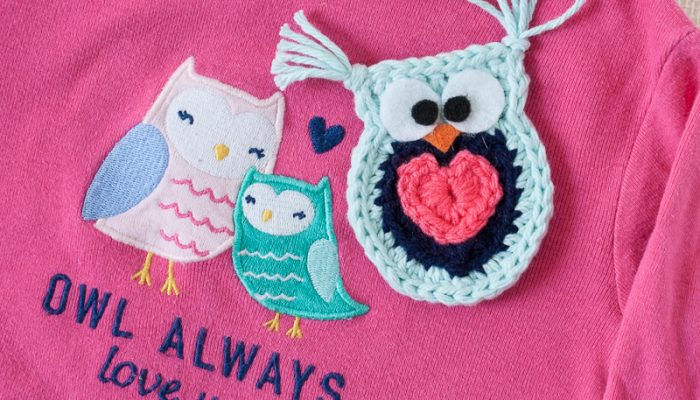 Owl Always Love You Crochet Owl Applique