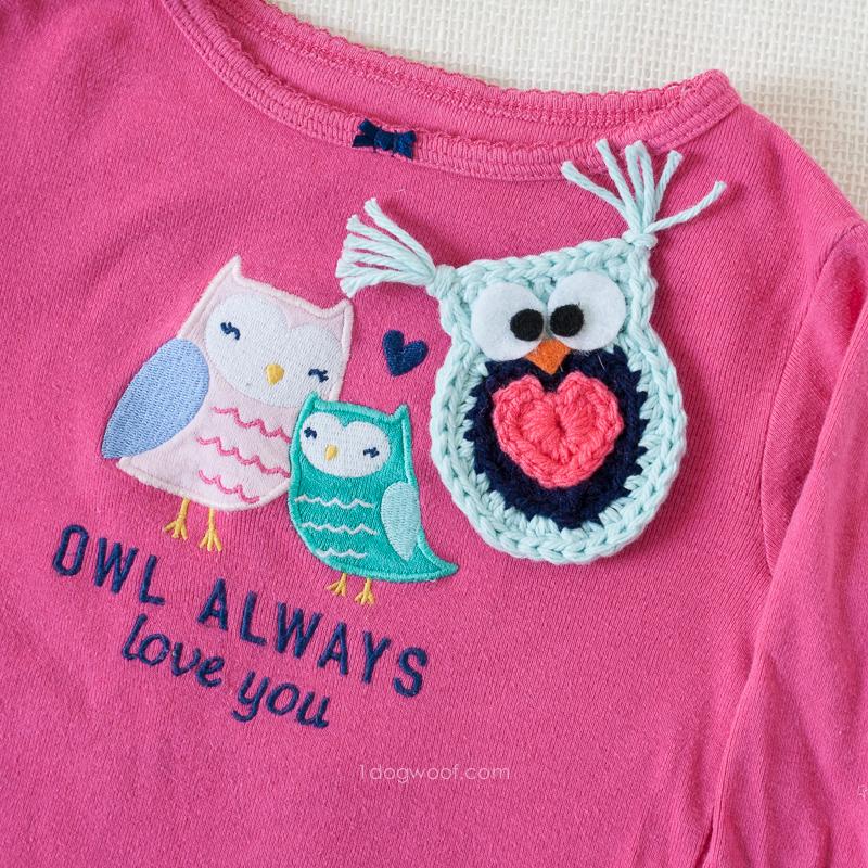 Owl Always Love You Crochet Owl Applique - One Dog Woof