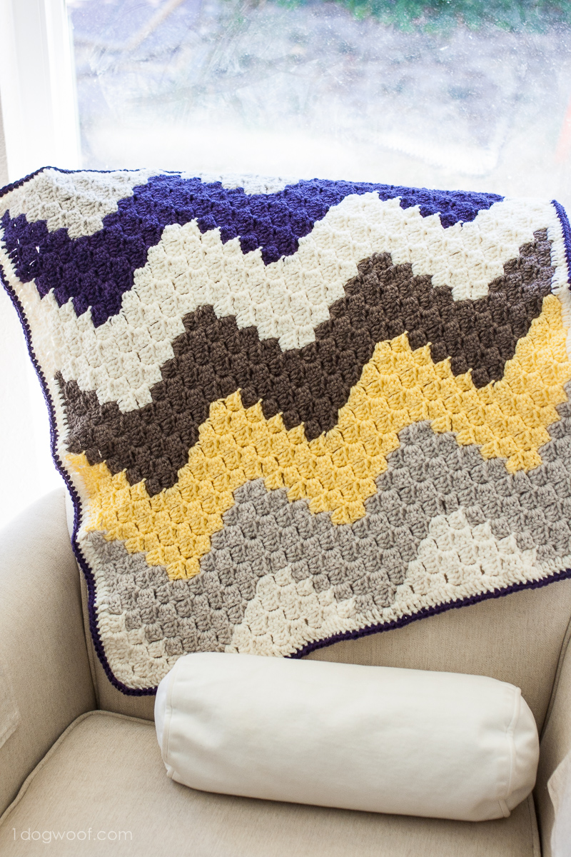 C2c Chevron Baby Blanket One Dog Woof