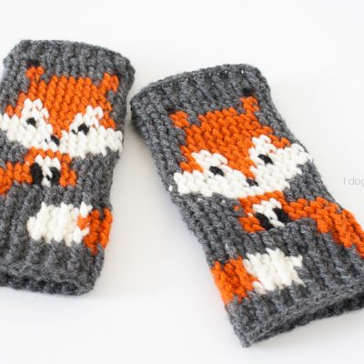 Fox Fingerless Gloves Crochet Pattern