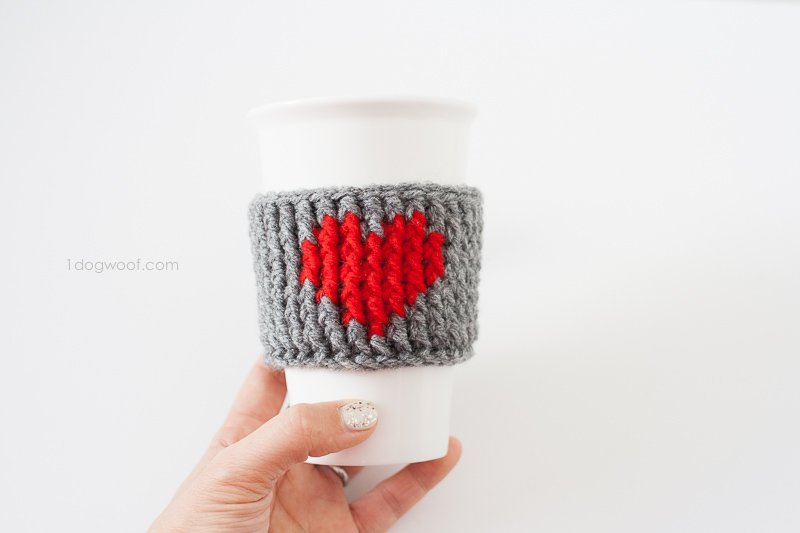 Heart Cup Cozy by One Dog Woof