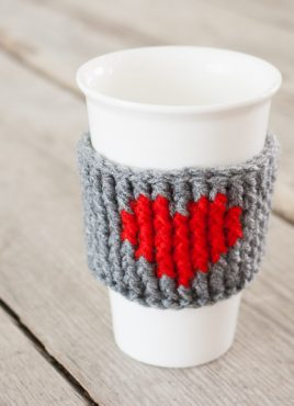Heart Cup Cozy Crochet Pattern