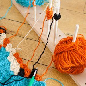 Modular Crochet Bobbin Holder
