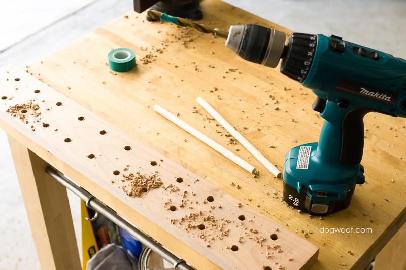 A sawdust mess.