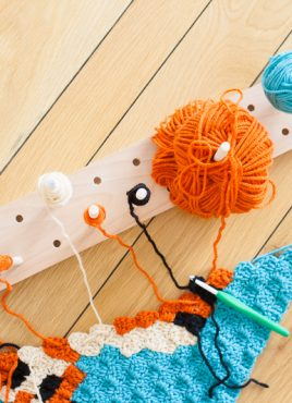 Modular Crochet Bobbin Holder
