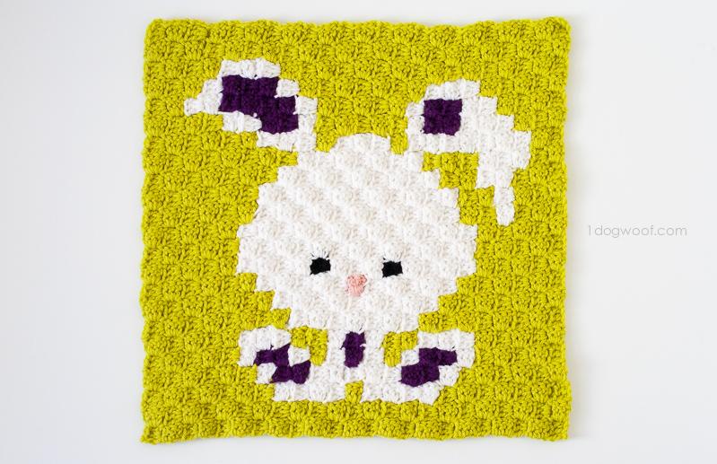 Zoodiacs bunny rabbit made using c2c crochet | www.1dogwoof.com