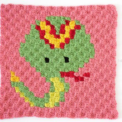 Zoodiacs Snake C2C Crochet Graph
