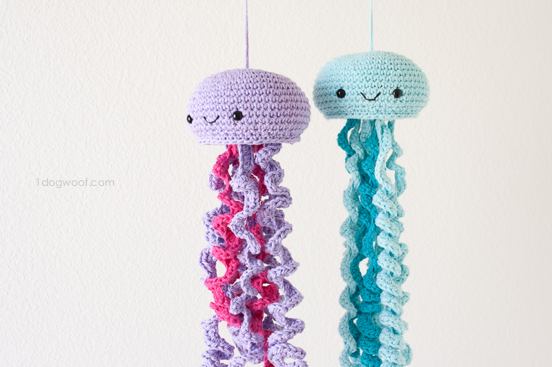 Free Crochet Pattern For Jellyfish : Crochet Jellyfish - One Dog Woof