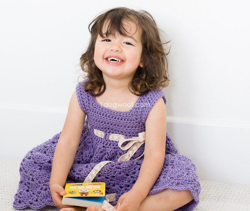 Crochet Purple Princess Dress
