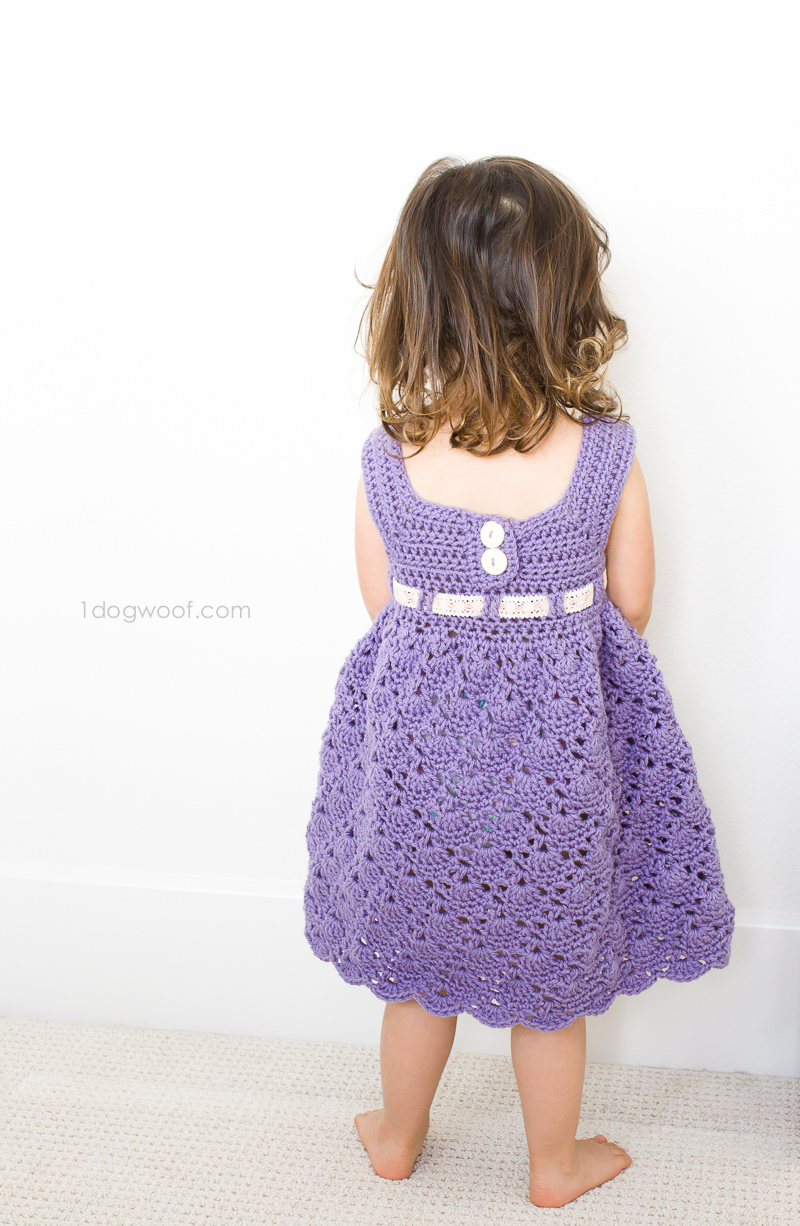 Crochet Purple Princess Dress - One Dog Woof