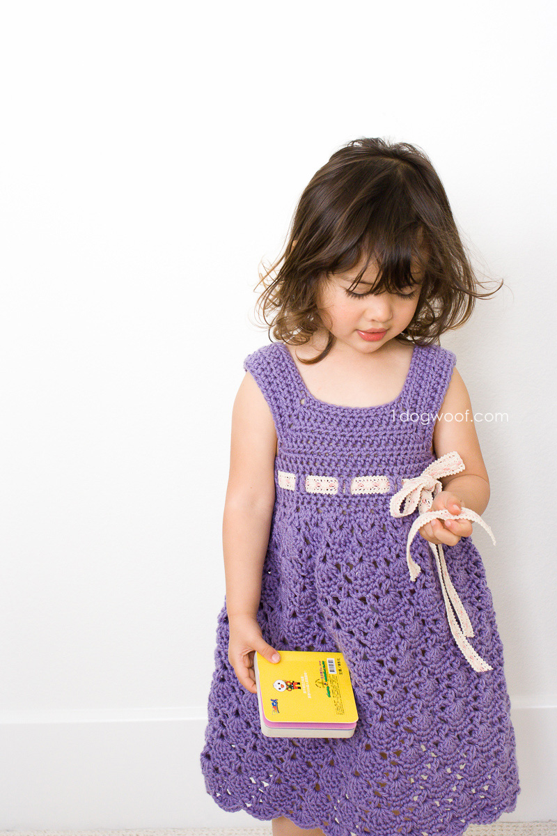 Crochet Purple Princess Dress - One Dog Woof