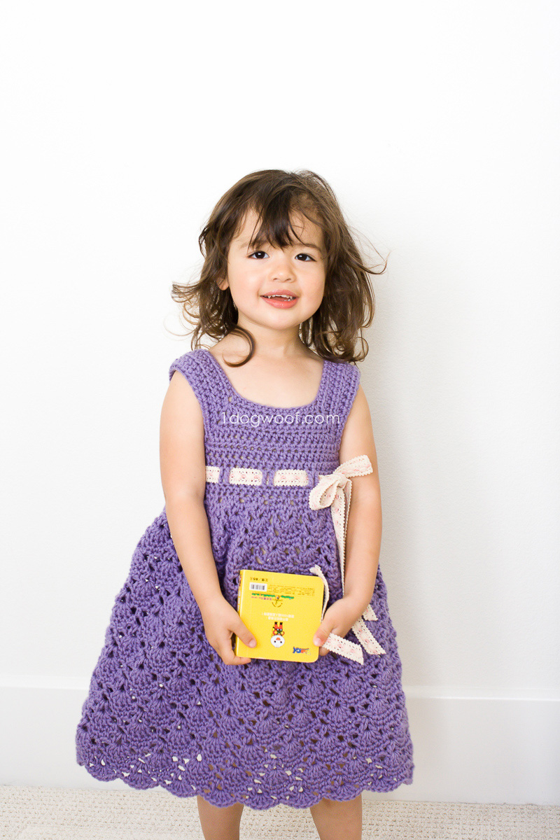 Adorable crochet purple princess dress | www.1dogwoof.com