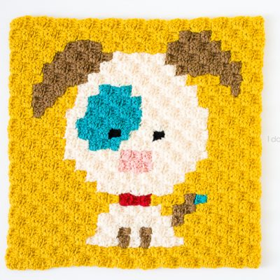 Zoodiacs Dog C2C Crochet Graph