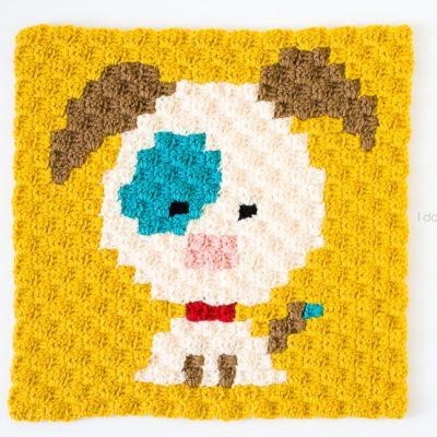 Zoodiacs Dog C2C Crochet Graph