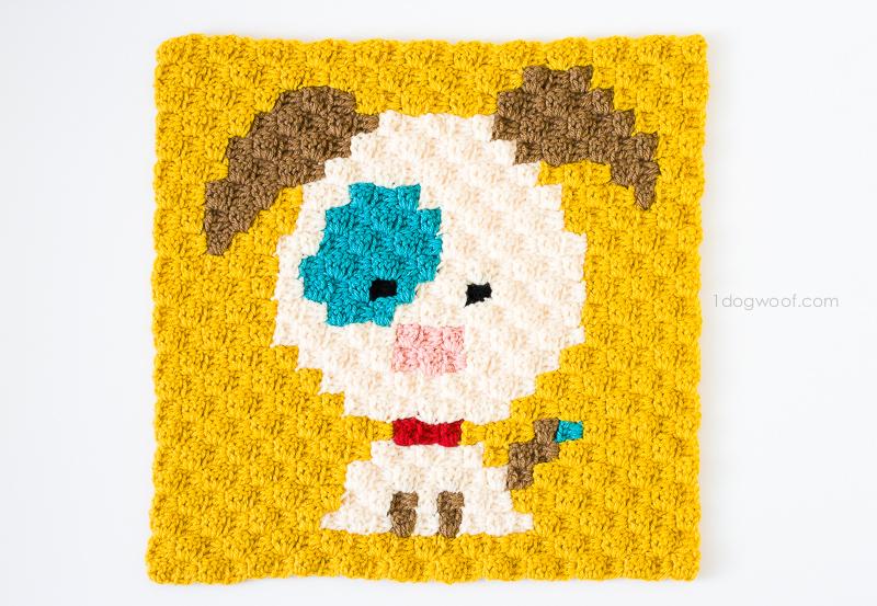 Zoodiacs dog made using c2c crochet | www.1dogwoof.com