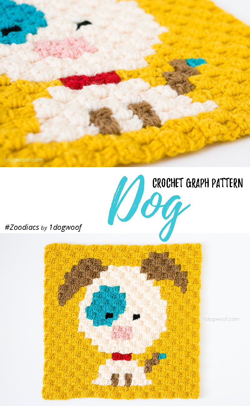 Zoodiacs dog made using c2c crochet | www.1dogwoof.com