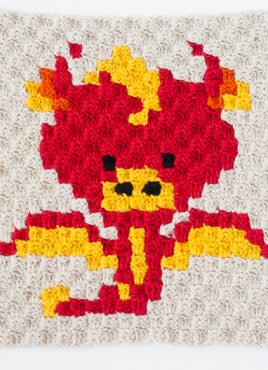 Zoodiacs Dragon C2C Crochet Graph