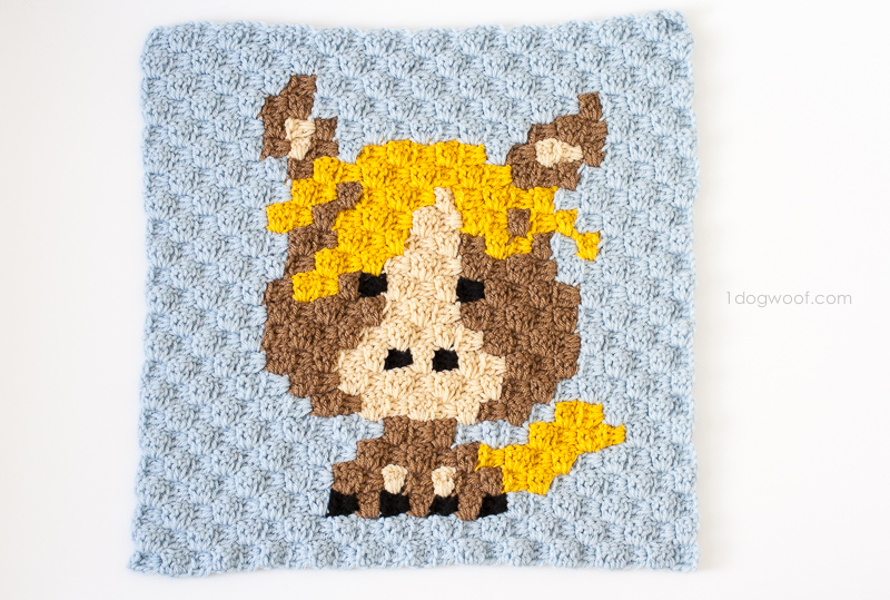 Zoodiacs Horse C2C Crochet Graph - One Dog Woof