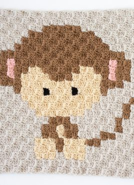 Zoodiacs Monkey C2C Crochet Graph