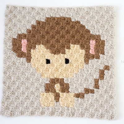 Zoodiacs Monkey C2C Crochet Graph