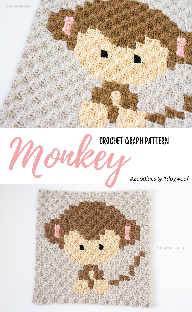 Zoodiacs monkey c2c crochet graph one dog woof i bankloansurffo Image collections