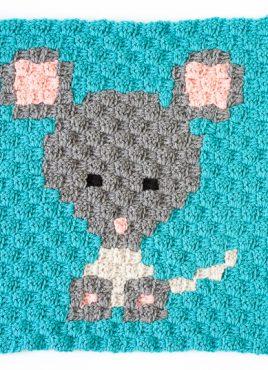 Zoodiacs Mouse C2C Crochet Graph