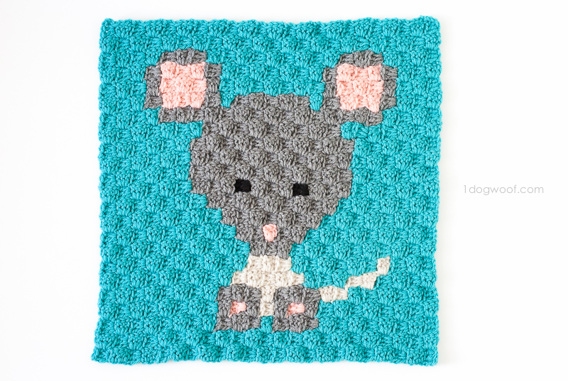 Zoodiacs mouse made using c2c crochet | www.1dogwoof.com