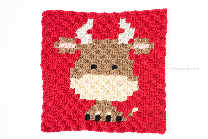 Zoodiacs ox made using c2c crochet | www.1dogwoof.com