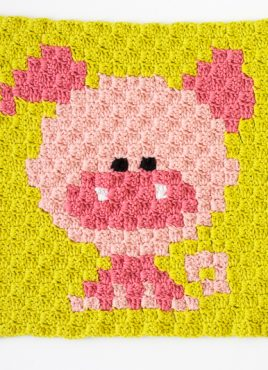 Zoodiacs Pig C2C Crochet Graph