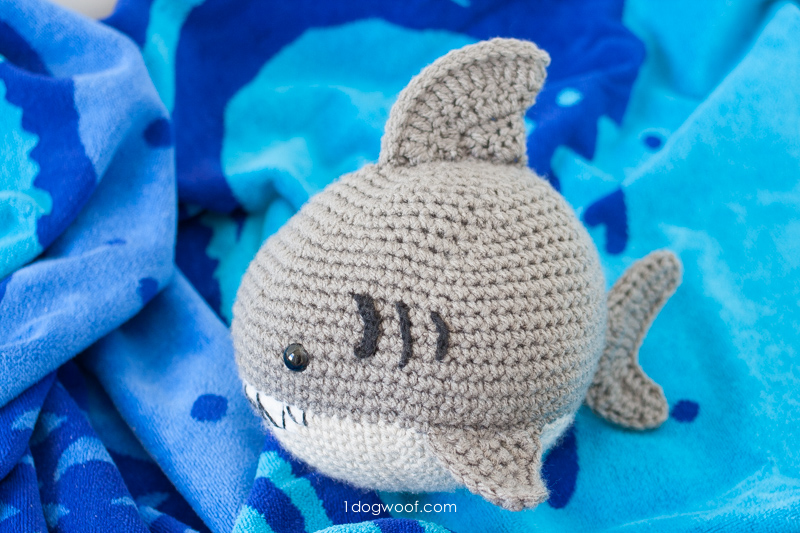 Crochet Shark Amigurumi One Dog Woof