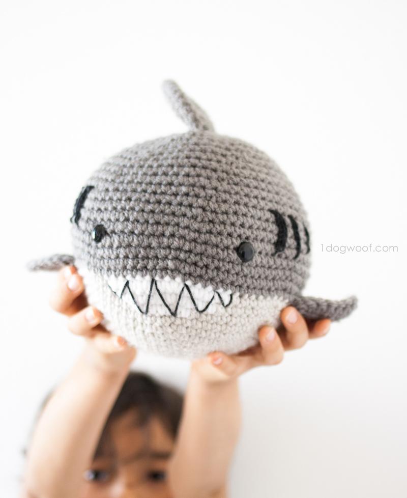 Crochet Shark Amigurumi One Dog Woof