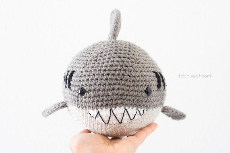 Crochet Shark Amigurumi - One Dog Woof