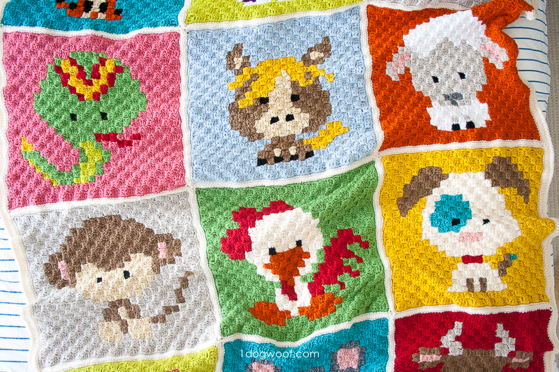 Zoodiacs Afghan - free crochet patterns | www.1dogwoof.com