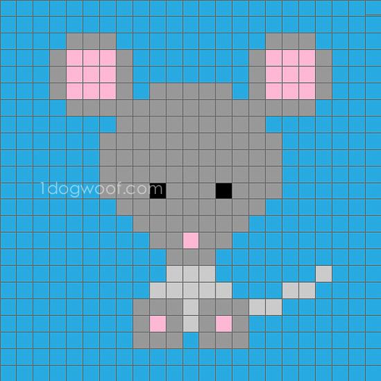 Zoodiacs mouse c2c graph | www.1dogwoof.com