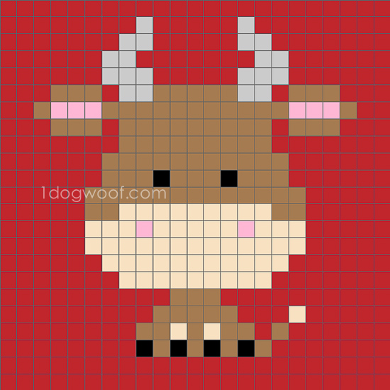 Zoodiacs Ox C2C Crochet Graph - One Dog Woof