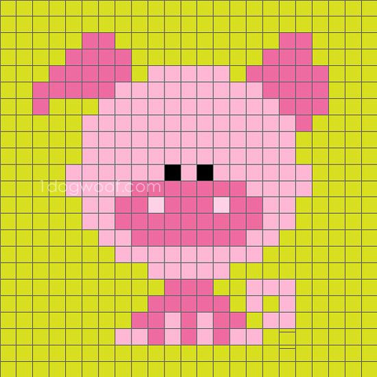 Zoodiacs Pig C2C Crochet Graph - One Dog Woof