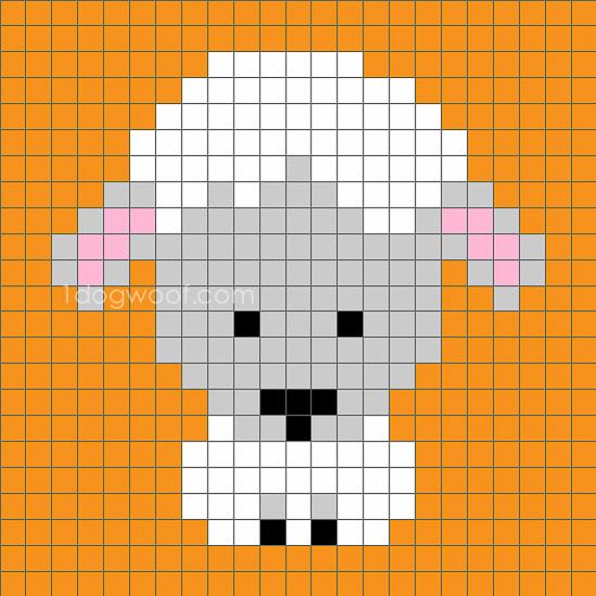 Zoodiacs Sheep C2C Crochet Graph - One Dog Woof
