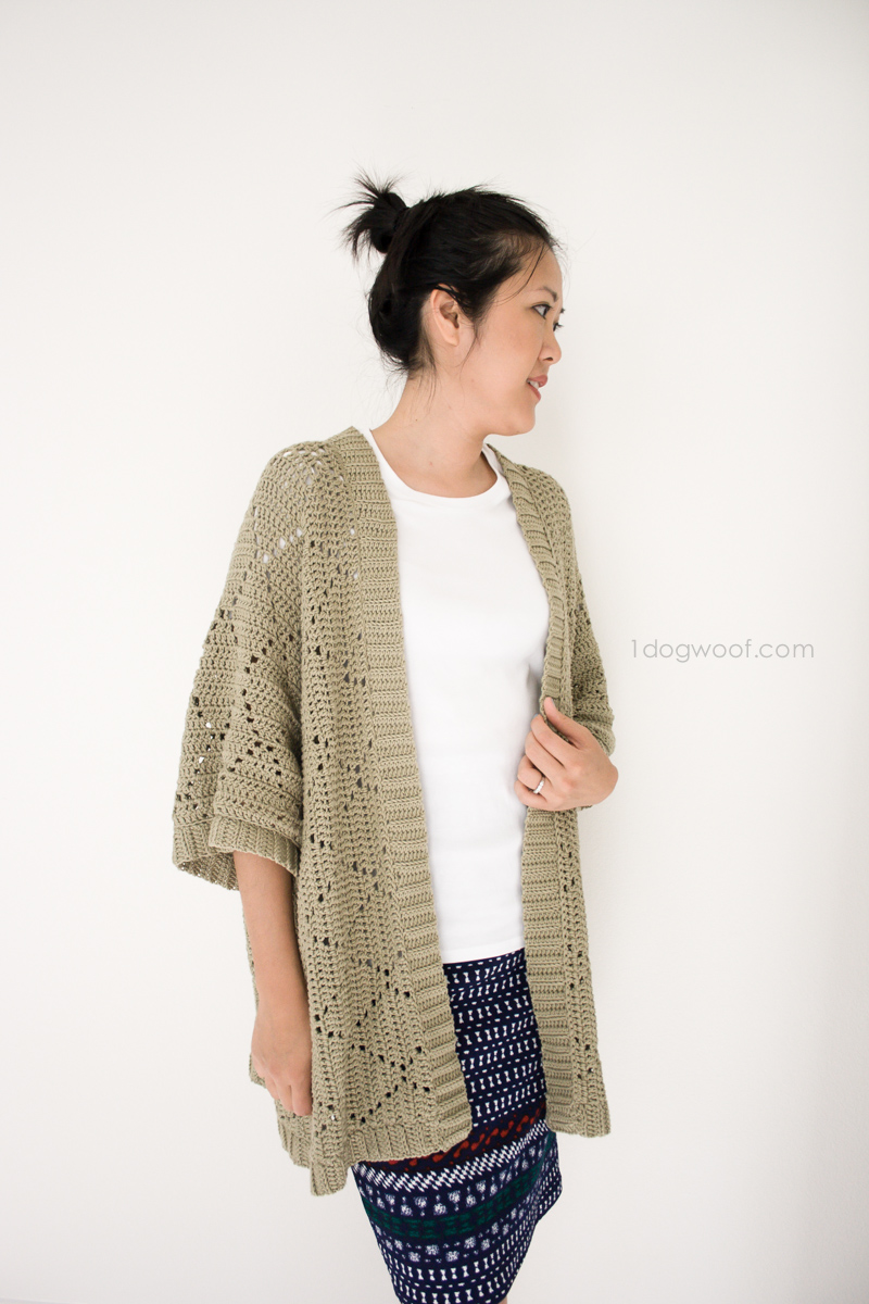 Free Crochet Pattern For Kimono : Summer Diamonds Kimono Cardigan - One Dog Woof